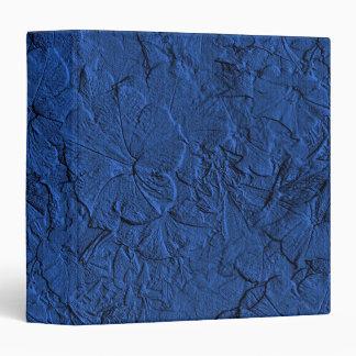 Petunias esculpidas, carpeta azul