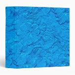 Petunias esculpidas, carpeta azul clara