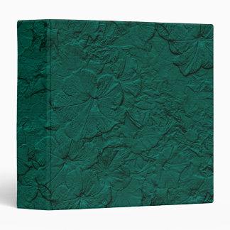 Petunias esculpidas, carpeta del verde de jade