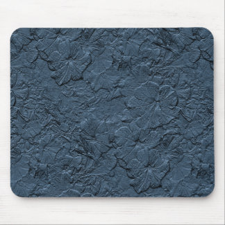 Petunias esculpidas, gris azul Mousepad Tapete De Ratón