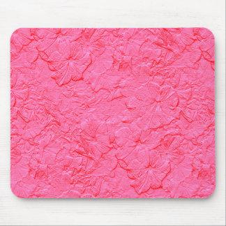 Petunias esculpidas, Mousepad rosado Tapetes De Ratones