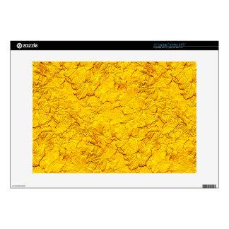 Petunias esculpidas, piel amarilla 15inch del portátil skins