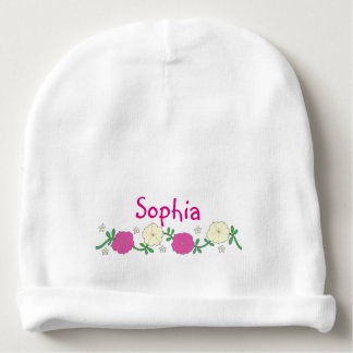 Petunias for Baby Baby Beanie