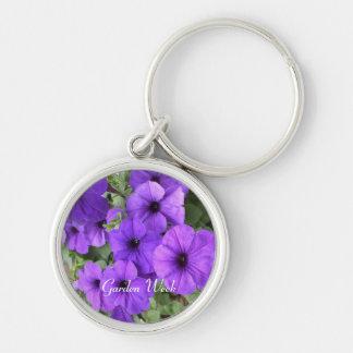 Petunias for Garden Week Keychain