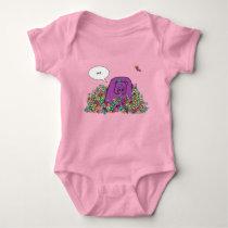 Petunia's Garden Baby Body Suit Baby Bodysuit