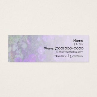 Petunias Garden Mini Business Card