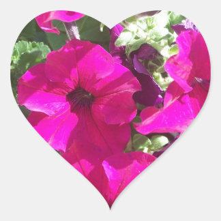 Petunias Heart Sticker