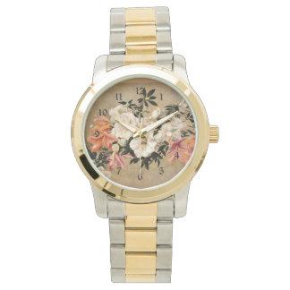 Petunias: Henri Fantin-Latour artwork Wristwatch