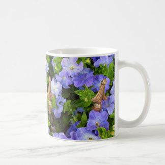 petunias in the garden mugs
