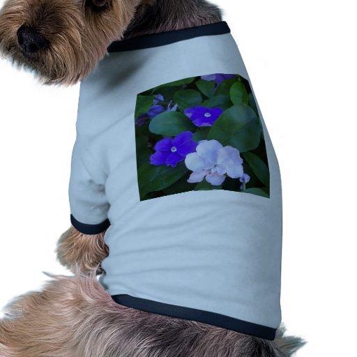 Petunias multi del mascota camisa de mascota