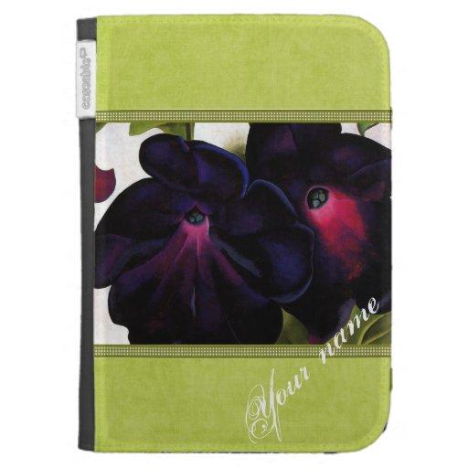 Petunias negras y púrpuras