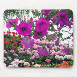 """""""Petunias Pink Geraniums"""" Mousepad"""