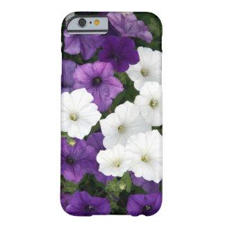 Petunias púrpuras y blancas funda barely there iPhone 6