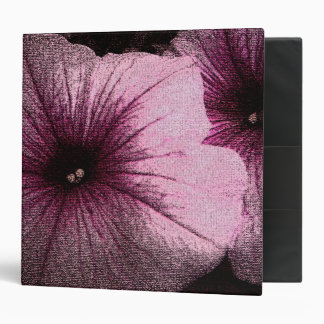 "Petunias rosadas y negras texturizadas carpeta 2"""