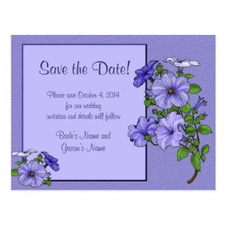 Petunias Save the Date Postcard