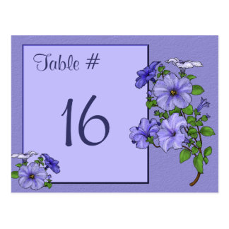 Petunias Table Number Card