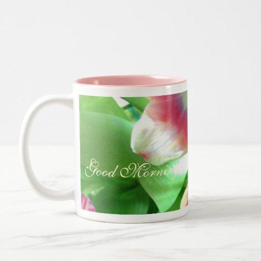 Petuninen Flower Cup 4 Tea and Coffee Two-Tone Coffee Mug