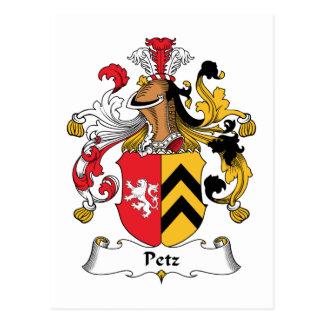 Petz Family Crest Postcard