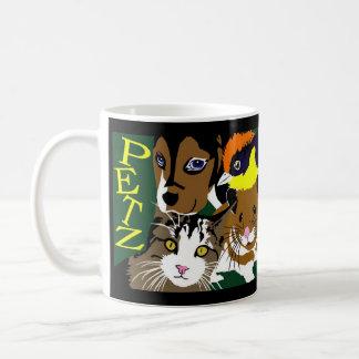 Petz pets dog cat hamster bird coffee mug