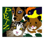 Petz World anime manga  vector art Post Card