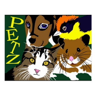 Petz World anime manga  vector art Postcard