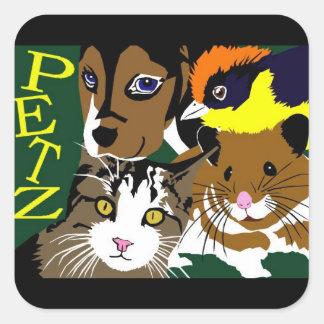 Petz World anime manga  vector art Square Sticker
