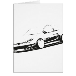 PEUGEOT 206 Tuning Greeting Cards