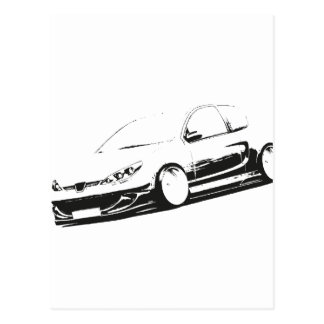 PEUGEOT 206 Tuning Postcards