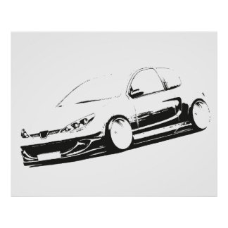 Peugeot 206 Tuning Poster