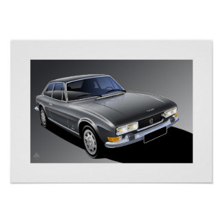 Peugeot 504 Coupe Poster illustration