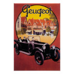 Peugeot Automobile Promotional Poster