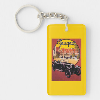 Peugeot Automobile Promotional Poster Keychain