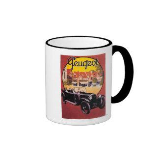 Peugeot Automobile Promotional Poster Coffee Mug