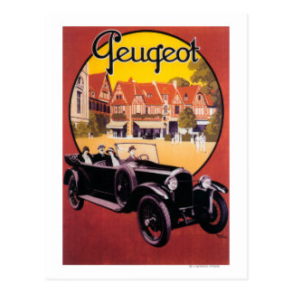 Peugeot Automobile Promotional Poster Post Card