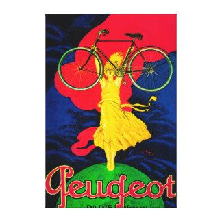 Peugeot Bicycle Vintage PosterEurope Canvas Print