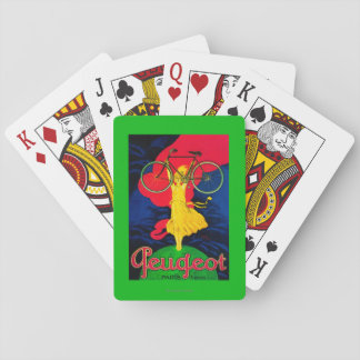 Peugeot Bicycle Vintage PosterEurope Playing Cards
