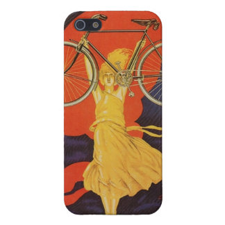 Peugeot Bicycles Bike Woman Paris Artistic Ad iPhone SE/5/5s Cover
