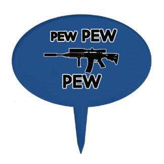 Pew pew gun cake topper