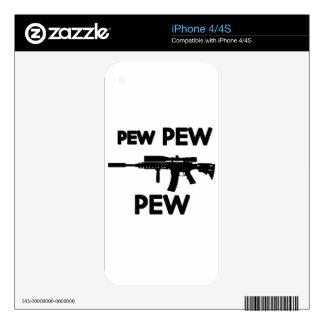 Pew pew gun iPhone 4 decal