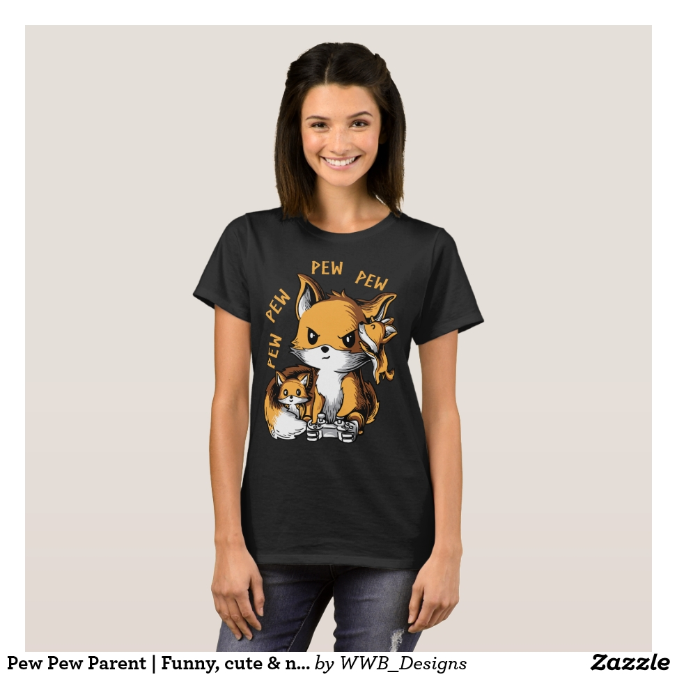 Pew Pew Parent | Funny, cute & nerdy shirt - Best Selling Long-Sleeve Street Fashion Shirt Designs