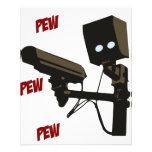 """Pew Pew Pew Laser Radar Gun Robot 4.5"""" X 5.6"""" Flyer"""