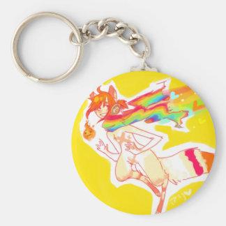 pew ravu tr basic round button keychain