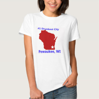 Pewaukee, la camiseta de las mujeres de la ciudad remeras