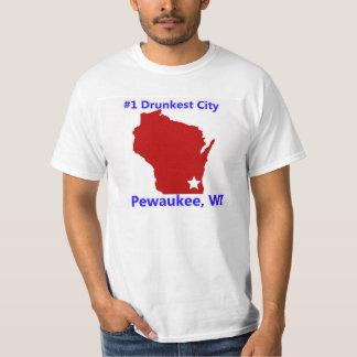 Pewaukee, la camiseta de los hombres de ciudad de playera