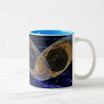 Pewsey White Horse Night Explain Two-Tone Coffee Mug