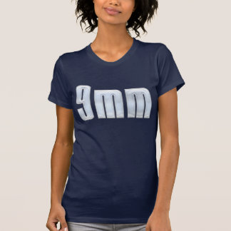 Pewter 9mm Gun Bullet Tshirt Tee Shirt