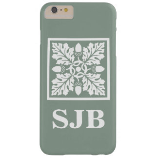 Pewter Acorn and Leaf Tile Design Barely There iPhone 6 Plus Case