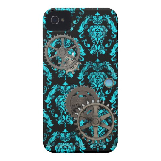 Pewter and Turquoise Steampunk Casemate Case-Mate iPhone 4 Case