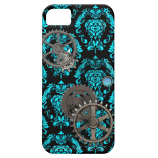 Pewter and Turquoise Steampunk Casemate iPhone SE/5/5s Case