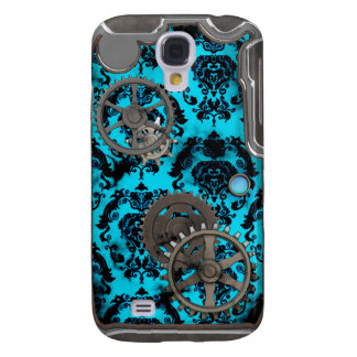Pewter and Turquoise Steampunk iPhone Case Samsung Galaxy S4 Cases